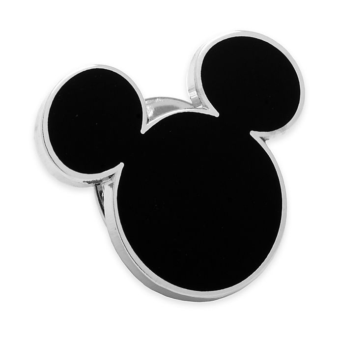 Disney® Silver-Plated and Enamel Mickey Mouse Lapel Pin in