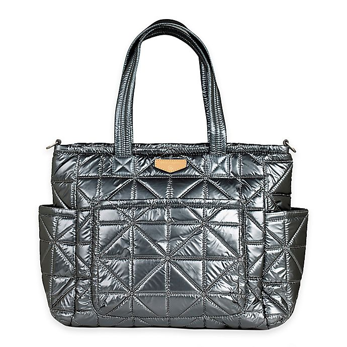 Alternate image 1 for TWELVElittle Carry Love Tote Diaper Bag in Pewter