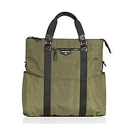 TWELVElittle Unisex 3-in-1 Foldover Tote Diaper Bag in Olive
