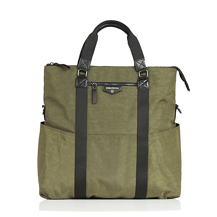 Alternate image 1 for TWELVElittle Unisex 3-in-1 Foldover Tote Diaper Bag