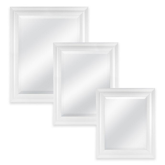 Alternate image 1 for Normandy Rectangular Mirror in White