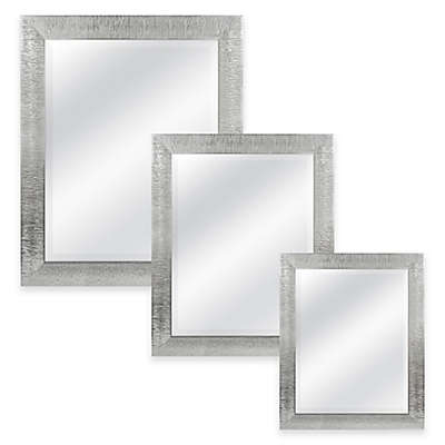 Rocco Rectangular Mirror in Silver