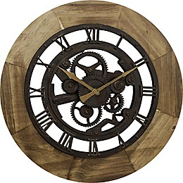 FirsTime® Gear 19.5-Inch Wall Clock in Bronze