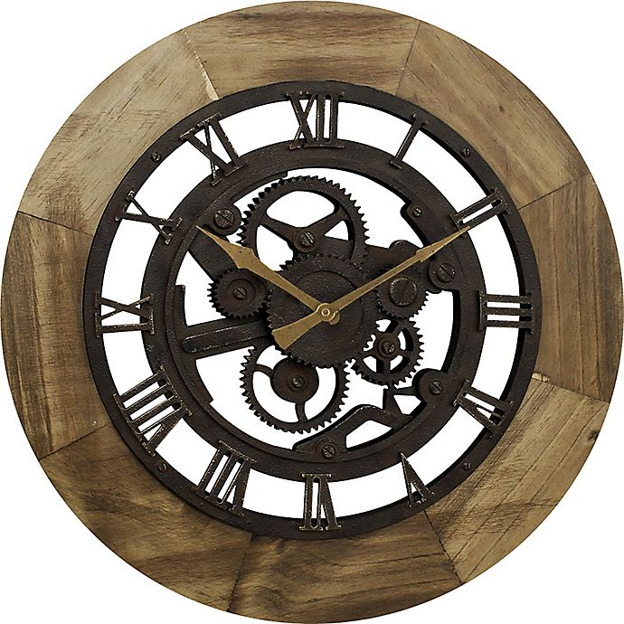 Firstime 174 Gear Wall Clock In Bronze Bed Bath Amp Beyond
