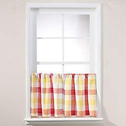 Harper 24-Inch Window Curtain Tier Pair in Red