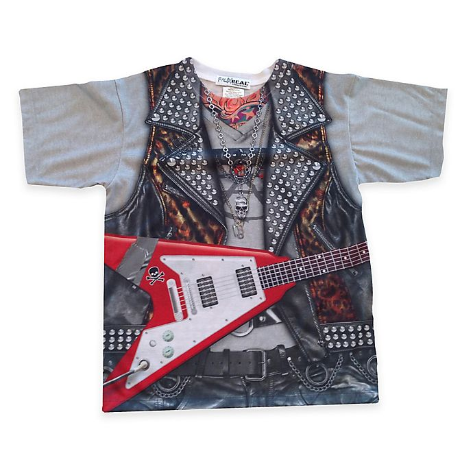 Alternate image 1 for Faux Real Photorealistic Rockstar Short Sleeve T-Shirt