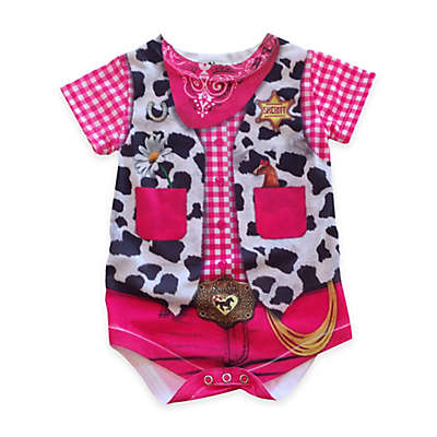 Faux Real Concepts Photorealistic Cowgirl Short Sleeve Bodysuit