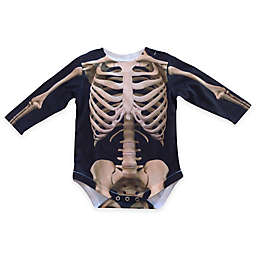 Faux Real Photorealistic Skeleton Long Sleeve Bodysuit