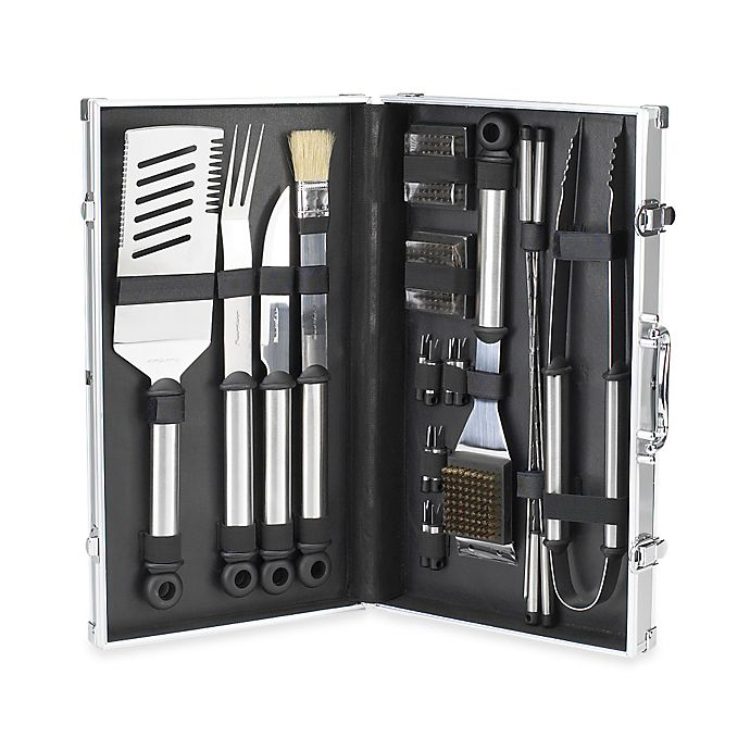Alternate image 1 for Picnic at Ascot 20-Piece BBQ Stainless Steel Master Grill Tools