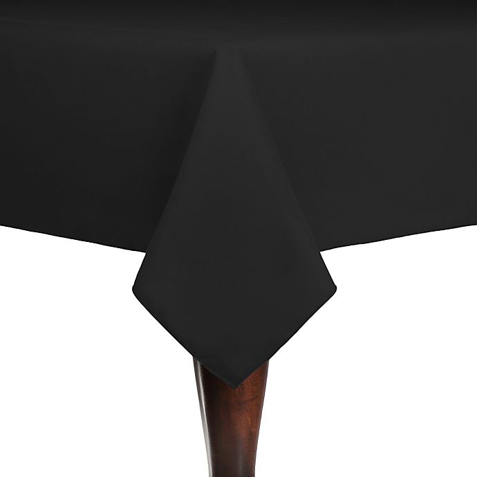 Alternate image 1 for Spun Polyester Indoor/Outdoor 54-Inch x 54-Inch Square Tablecloth in Black