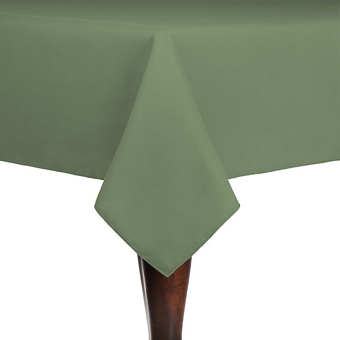Alternate image 1 for Spun Polyester Indoor/Outdoor 54-Inch x 54-Inch Square Tablecloth in Sage
