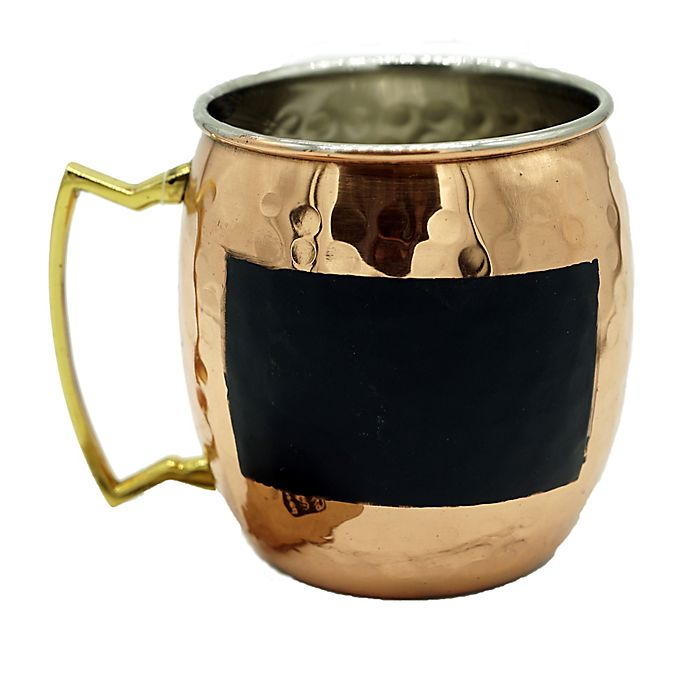 Alternate image 1 for Moscow Mule Chalk Mug in Hammered Copper