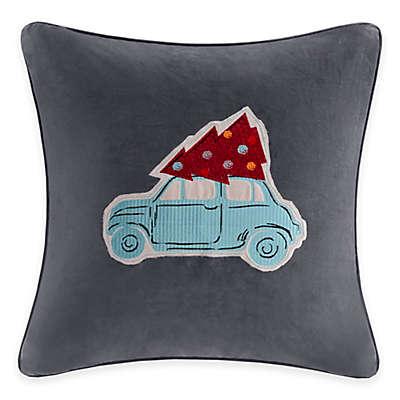 Madison Park Holiday Drive Velvet Square Throw Pillow