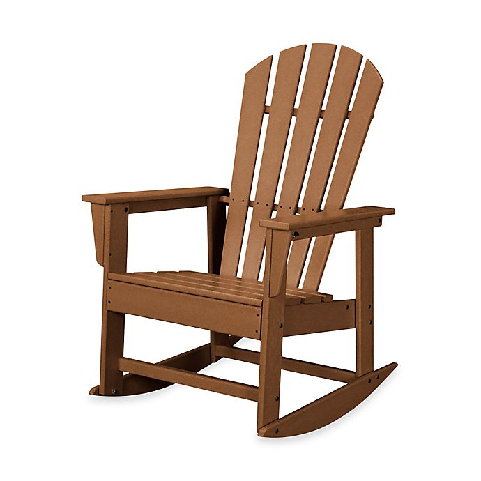 Buy Polywood 174 South Beach Rocker In Teak From Bed Bath