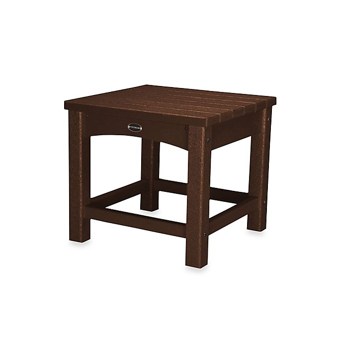 Alternate image 1 for POLYWOOD® Club Side Table in Mahogany