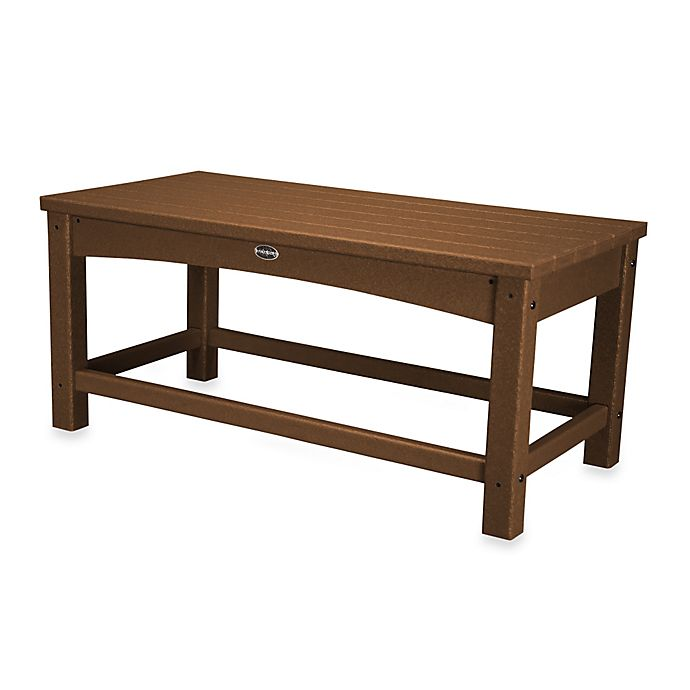 Buy Polywood 174 Club Coffee Table In Teak From Bed Bath Amp Beyond