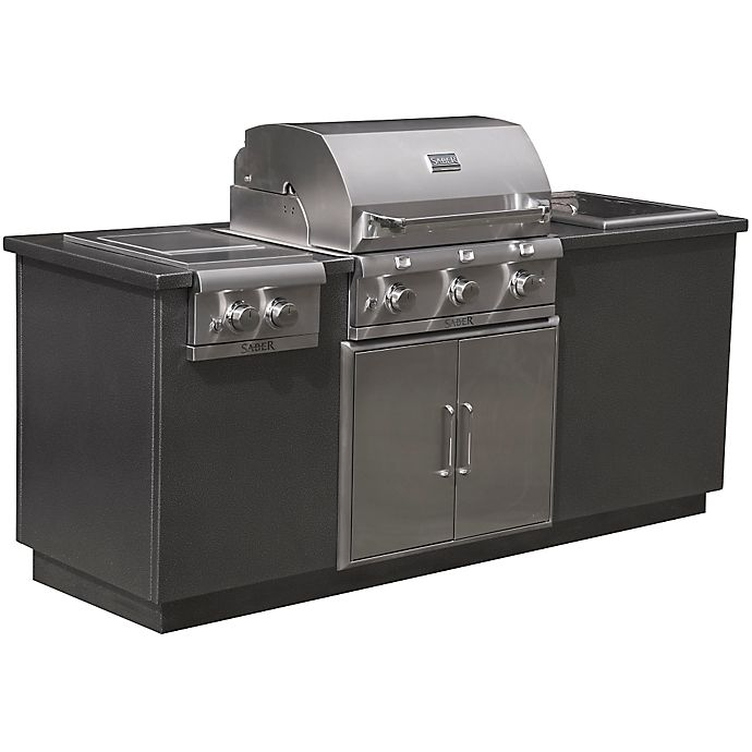 Alternate image 1 for Saber® EZ Outdoor Kitchen in Silver