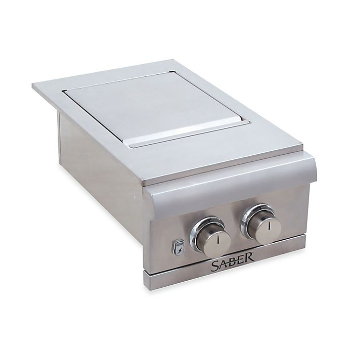 Alternate image 1 for Saber® Stainless Steel Dual Built-in Side Burner