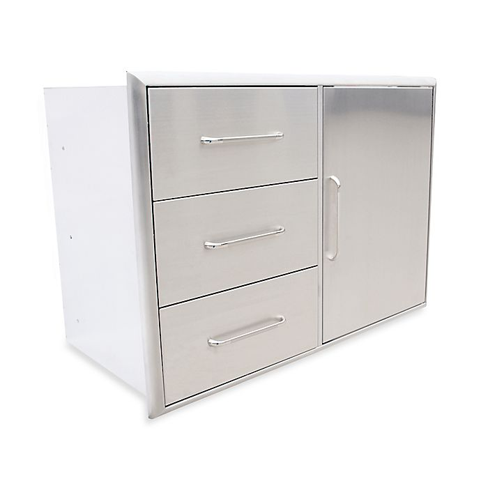 Alternate image 1 for Saber® Triple Drawer and Door Combo for Outdoor Grills