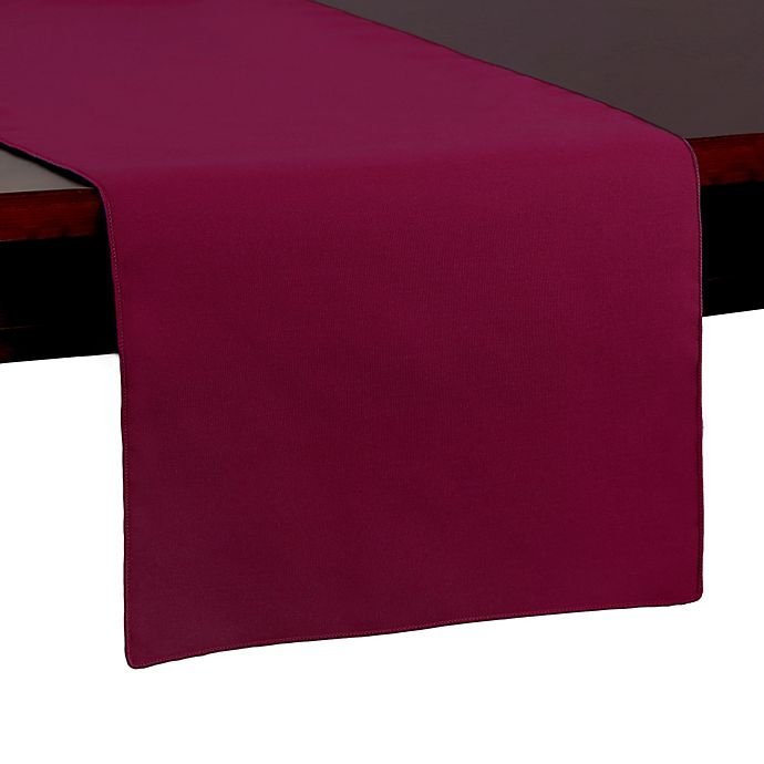 Alternate image 1 for Spun Polyester 54-Inch Table Runner in Burgundy