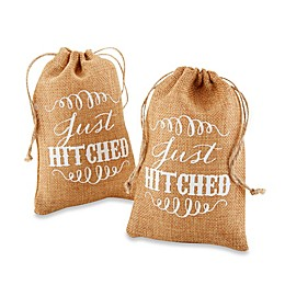 "Kate Aspen® ""Just Hitched"" Burlap Favor Bags (Set of 12)"