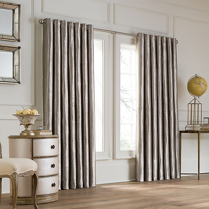 Alternate image 1 for Valeron Lustre Grommet Top 108-Inch Width x 84-Inch Long Window Curtain Panel in Nickel