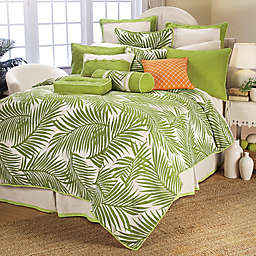 HiEnd Accents Capri Duvet Cover Set in Green/White