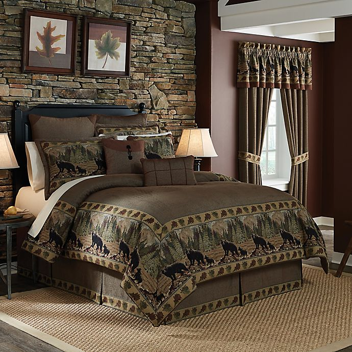 Croscill 174 Grand Lake Comforter Set In Brown Bed Bath