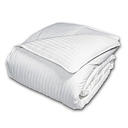 Damask Stripe 600 Thread Count European White Down Comforter