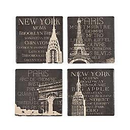 Boston Warehouse Sandstone Travel Coasters (Set of 4)