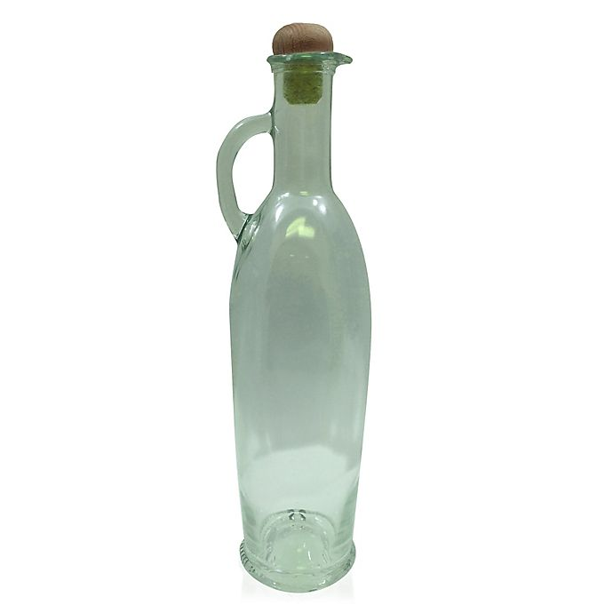 Alternate image 1 for Caroffa 17 oz. Green Tinted Oil Bottle with Cork