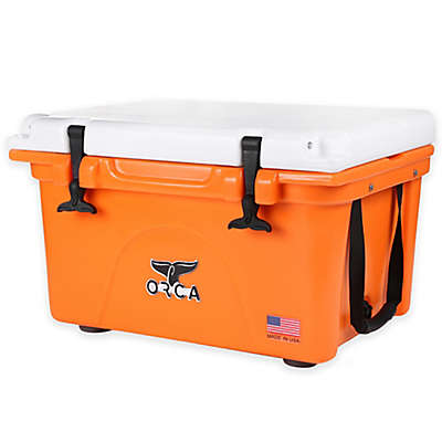 Orca 26 qt. Ice Retention Cooler in Orange/White