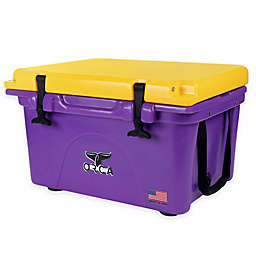 Orca 26 qt. Ice Retention Cooler in Purple/ Gold