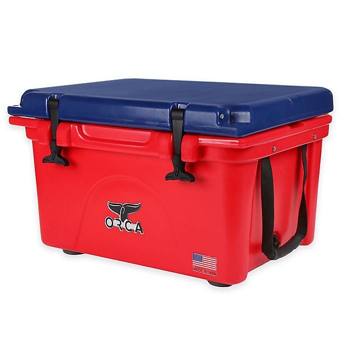 Alternate image 1 for Orca 26 qt. Cooler in Red/Blue
