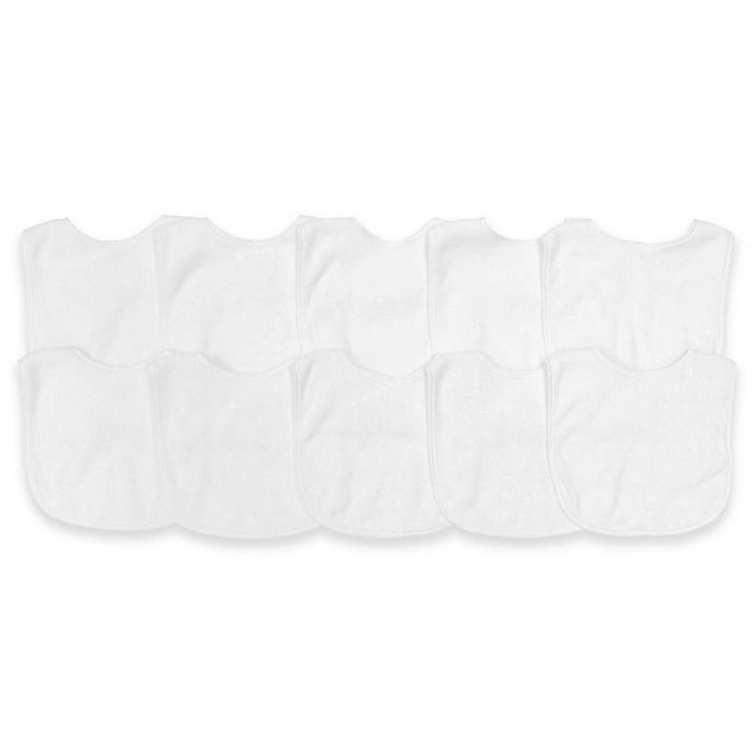 Alternate image 1 for Neat Solutions® 10-Pack Bibs in Solid White