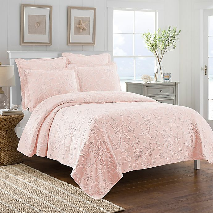 Alternate image 1 for Lamont Home™ Calypso Full/Queen Coverlet in Coral
