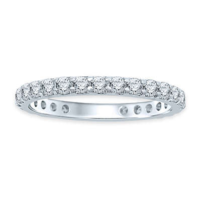 14K White Gold Diamond Ladies' Eternity Wedding Band