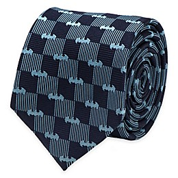 DC Comics™ Batman Checkered Logo Tie in Navy/Blue