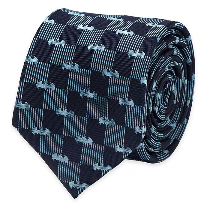 Alternate image 1 for DC Comics™ Batman Checkered Logo Tie in Navy/Blue