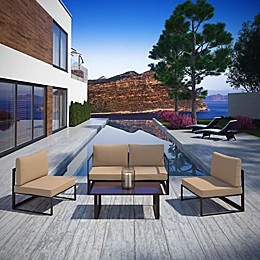 Modway Fortuna Outdoor 5-Piece Patio Sectional Set