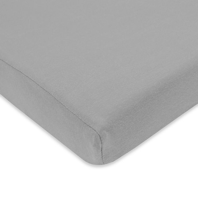 Alternate image 1 for TL Care® Cotton Jersey Fitted Playard Sheet in Grey