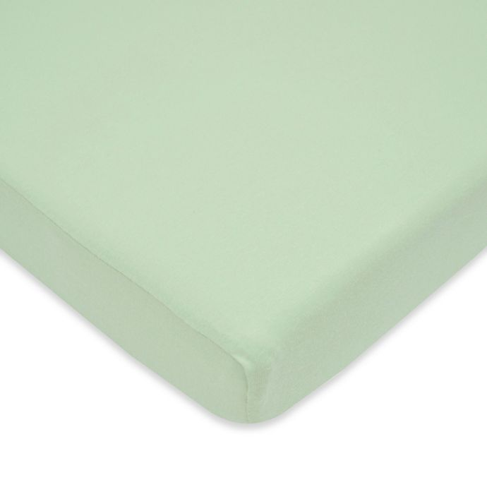 Alternate image 1 for TL Care® Cotton Jersey Fitted Playard Sheet in Celery