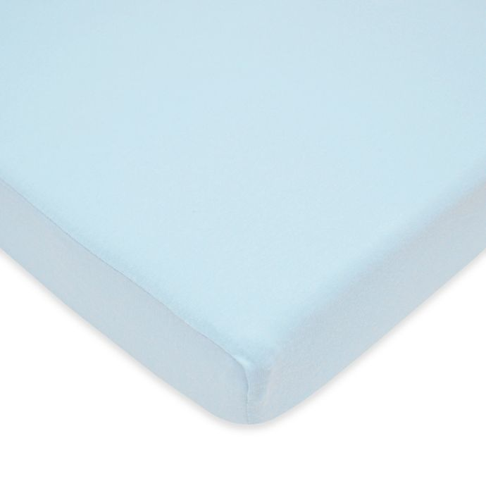 Alternate image 1 for TL Care® Cotton Jersey Fitted Playard Sheet in Blue
