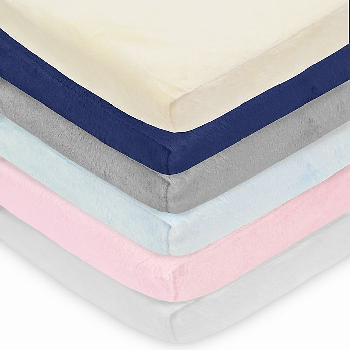 Alternate image 1 for TL Care® Heavenly Soft Chenille Playard Fitted Sheet