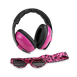 Baby Banz Size 0-2 Years earBanZ Hearing Protection with Sunglasses in Magenta