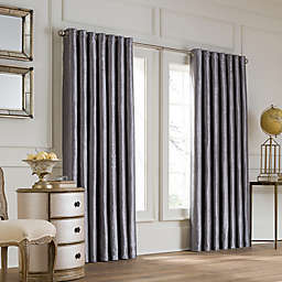 Valeron Lustre Grommet Top 108-Inch Width x 120-Inch Long Window Curtain Panel in Charcoal