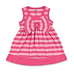 BabyVision® Hudson Baby® Size 6-9M Sleeveless Big Bow Striped Dress in Pink