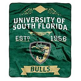 NCAA University South Florida Super Plush Raschel Throw Blanket