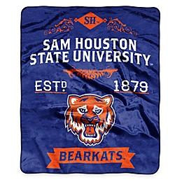 NCAA Sam Houston State University Super Plush Raschel Throw Blanket