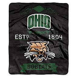 Ohio University Raschel Throw Blanket